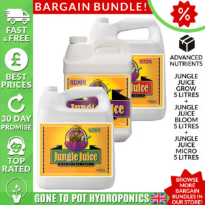 advanced nutrients jungle juice grow, bloom and micro - 5 litre